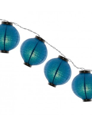 Φωτιστικό Γιρλάντα Χάρτινη Μπλε Σφαίρα 12m