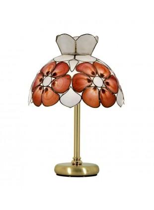 Επιτραπέζιο φωτιστικό αμπαζούρ από όστρακο τύπου Tiffany