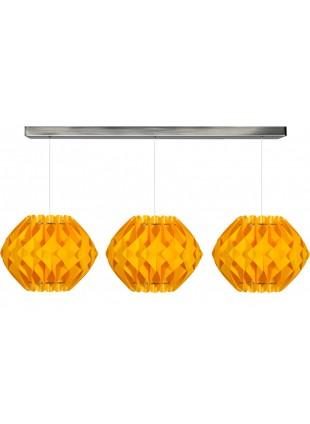 Κίτρινο Τρίφωτο Κρεμαστό Φωτιστικό Οροφής Nova Μ2