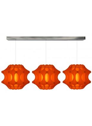 Κρεμαστό μοντέρνο φωτιστικό σε Πορτοκαλί χρώμα.