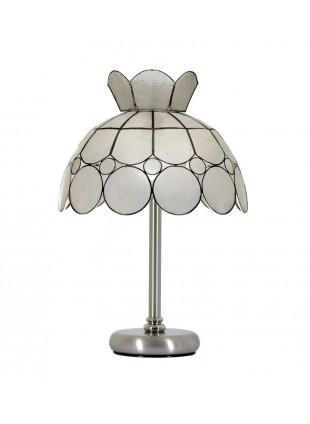 Φυσικό οστράκινο επιτραπέζιο φωτιστικό τύπου Tiffany