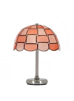 Ροζ Οστράκινο Φωτιστικό Πορτατίφ Καμπάνα τύπου Βιτρώ