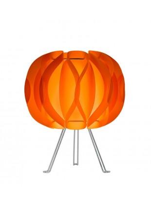 Πορτοκαλί επιτραπέζιο φωτιστικό Luna με τρίποδο