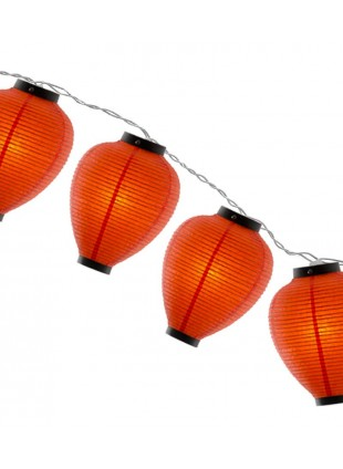 Φωτιστικό Γιρλάντα Χάρτινη Πορτοκαλί Κιούπι 12m
