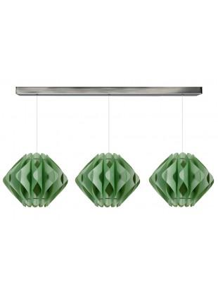 Πράσινο Τριφώτο Κρεμαστό Φωτιστικό Saporo M1