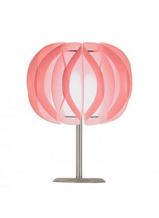 Ροζ επιτραπέζιο φωτιστικό Luna βάση 20cm