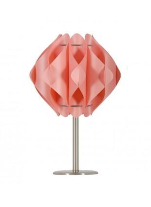 Ροζ μοντέρνο επιτραπέζιο φωτιστικό Saporo S1 με βάση 20 cm