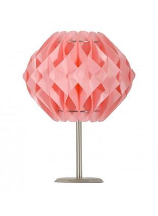 Ροζ επιτραπέζιο φωτιστικό Nova S2 με βάση 20 cm