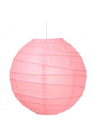 """Χάρτινο Φωτιστικό Μπάλα """"Akari"""" Lamp - Φ-40cm - Ροζ"""