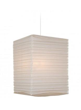 Λευκό Τετράγωνο Χάρτινο Φωτιστικό Υ-49cm Οροφής