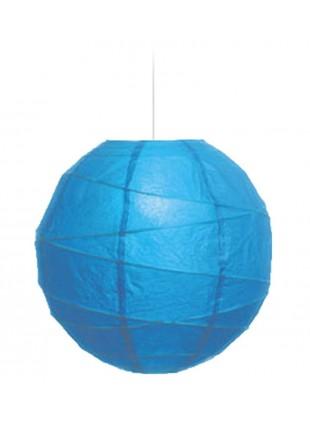 """Χάρτινο Φωτ. Μπάλα """"Akari"""" - Φ-35cm - Γαλάζιο"""